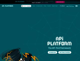 api-platform.com screenshot