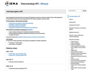 api.ifirma.pl screenshot