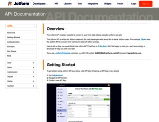 api.jotform.com screenshot