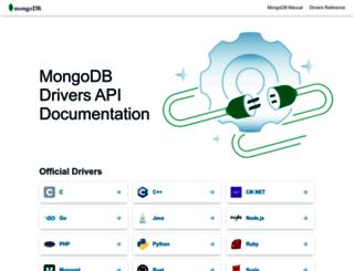 api.mongodb.org screenshot