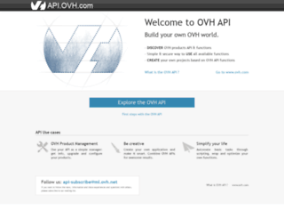 api.ovh.com screenshot
