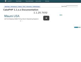 api11.cakephp.org screenshot