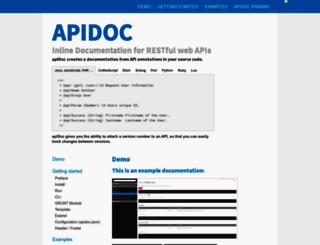 apidocjs.com screenshot