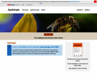 apidologie.org screenshot