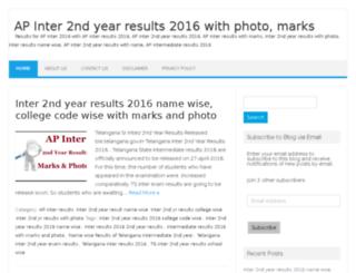 apinter2ndyearresults2016.in screenshot