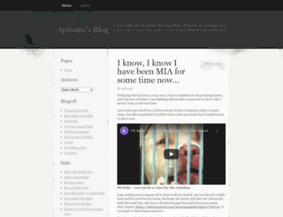 apitome.wordpress.com screenshot