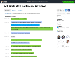 apiworld2013conferencefestival.sched.org screenshot