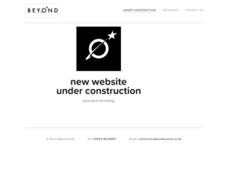 aplacebeyond.co.uk screenshot