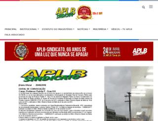 aplbsindicato.org.br screenshot