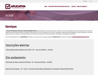 aplicativaassessoria.net screenshot