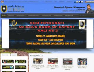 aplikasi.unisza.edu.my screenshot