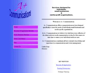 apluscommunications.com.au screenshot