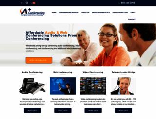 aplusconferencing.com screenshot