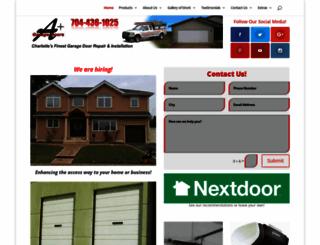aplusdoors.com screenshot