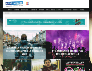 apmusicales.com screenshot