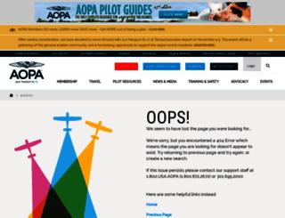 apnet.aopa.org screenshot