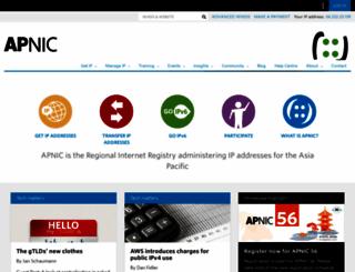 apnic.net screenshot