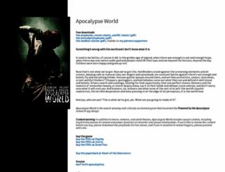 apocalypse-world.com screenshot