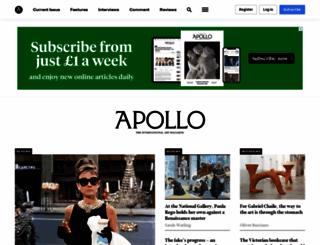 apollo-magazine.com screenshot