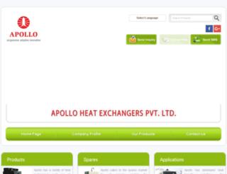 apolloheatexchangers.com screenshot