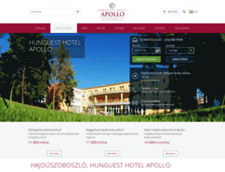 apollohotel.hu screenshot