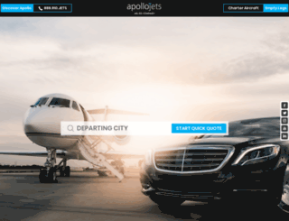 apollojets.com screenshot