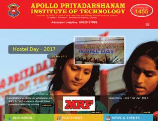 apollopriyadarshanam.in screenshot