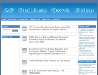 aponlinegovjobs.in screenshot