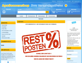 aposonnenshop.de screenshot