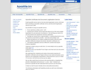 apostille.biz screenshot