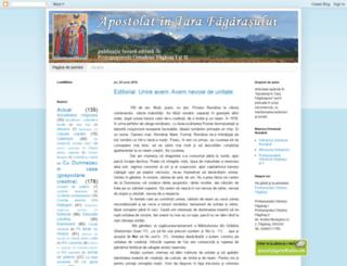 apostolatintarafagarasului.blogspot.com screenshot