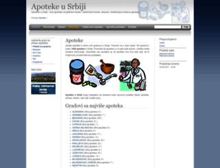 apoteke.cu.rs screenshot
