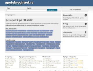 apotekregistret.se screenshot