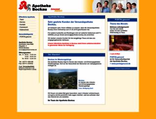 apotheke-bockau-shop.de screenshot