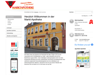 apotheke-muskau.de screenshot
