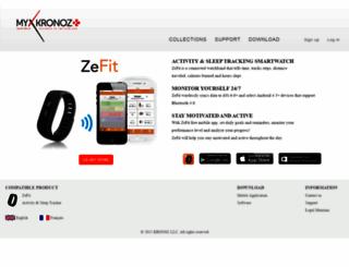 app-zefit.mykronoz.com screenshot
