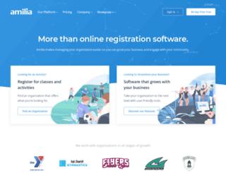 app.amilia.com screenshot