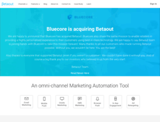 app.betaout.com screenshot