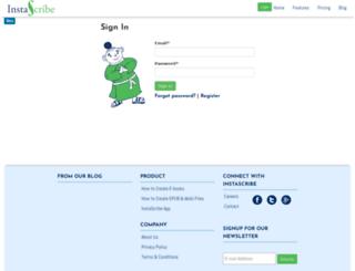 app.instascribe.com screenshot