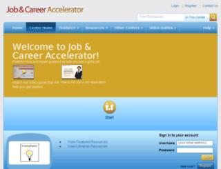 app.jobandcareeraccelerator.com screenshot