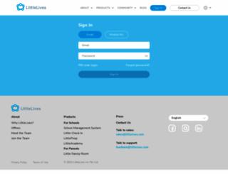 app.littlelives.com screenshot