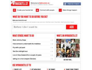 app.mybucketli.st screenshot