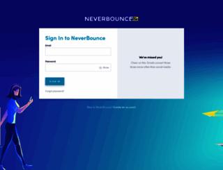app.neverbounce.com screenshot