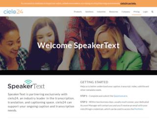 app.speakertext.com screenshot