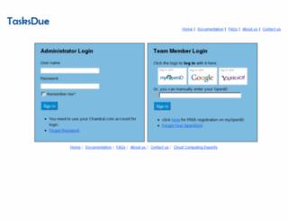 app.tasksdue.com screenshot