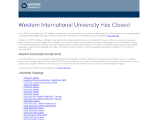 app.west.edu screenshot