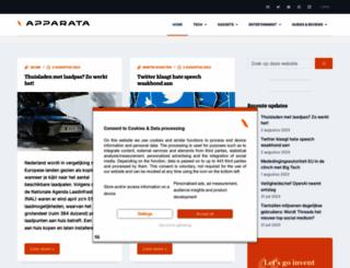 apparata.nl screenshot