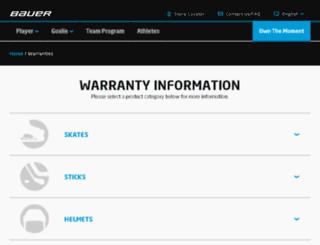 apparel.bauer.com screenshot