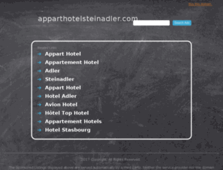 apparthotelsteinadler.com screenshot