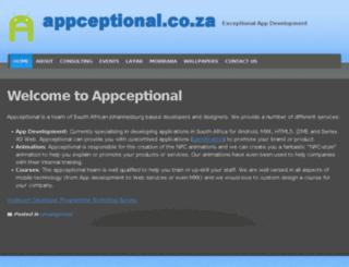 appceptional.co.za screenshot